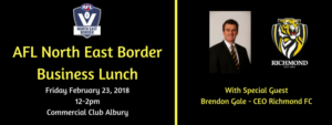 AFL North East Border Business Lunch with Brendon Gale