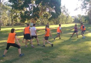 twilight touch football group action